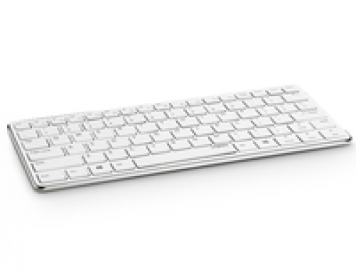 RAPOO E6350 - Bluetooth Ultra-slim Keyboard weiss-silber (DEU Layout - QWERTZ) – Bild 1