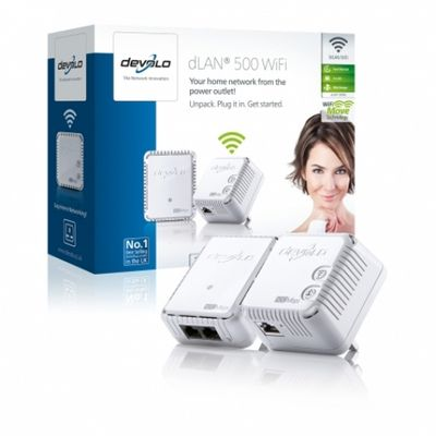 Devolo dLAN 500 WiFi Powerlan Starter Kit Plug-Type G (UK)
