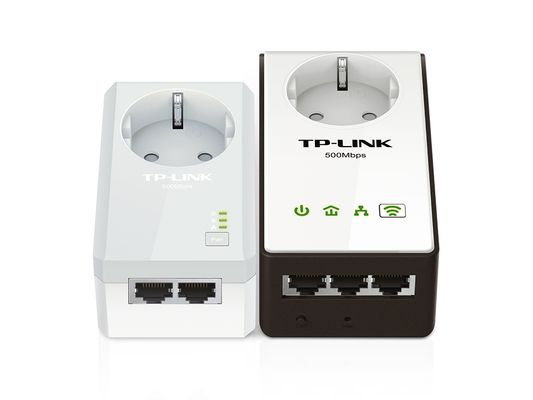 Tp-link AV500 Powerline Wireless Range Extender Passthrough Kit Plug-Type F (EU) – Bild 1