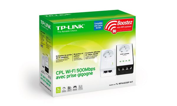 tp-link AV500 Powerline Wireless Range Extender Passthrough Kit Plug-Type E (FR) – Bild 3