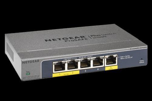 Netgear ProSAFE Plus 5-Port-Pass-Through-PoE-Gigabit-Switch