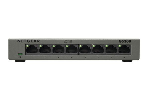 ELECTRICALCENTRE Netgear GS308 Gigabit Ethernet (10/100/1000) Grau
