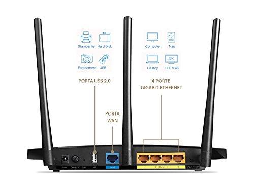 TP-LINK AC1200 Dual-Band (2,4 GHz/5 GHz) Gigabit Ethernet Schwarz WLAN-Router Plug-Type F (EU) - Plug-Type C (EU) – Bild 3