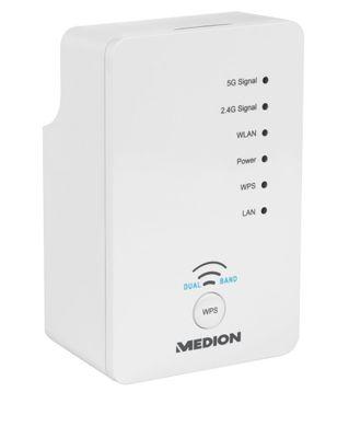 MEDION Dual Band Wireless-LAN Amplifier Plug-Type F (EU) – Bild 2