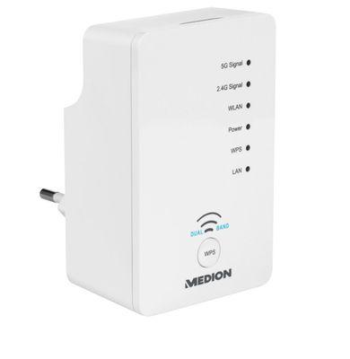 MEDION Dual Band Wireless-LAN Amplifier Plug-Type F (EU) – Bild 4