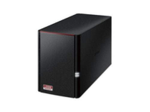 Buffalo LinkStation 520 LS520DE-EU 2-Bay NAS (1.0GHz Dual-Core, DDR3 256MB) Schwarz – Bild 1