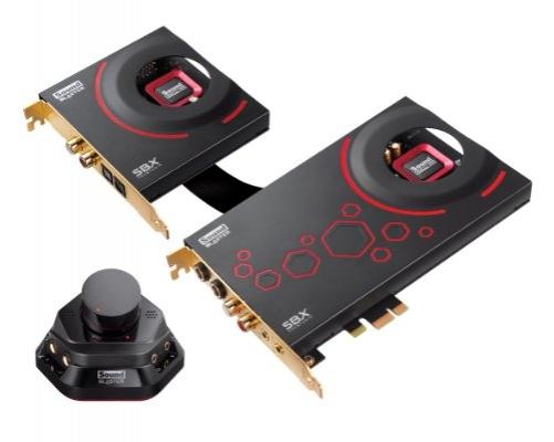 Creative Sound Blaster ZxR Interne Soundkarte (SNR 124dB, PCI-Express, 3,5 mm Jack, leistungsstarker Kopfhörerverstärker, Audio-Steuerungsmodul, DBpro Tochter-Karte) schwarz – Bild 7
