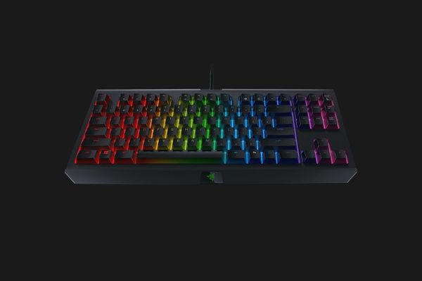 razer BlackWidow Tournament Edition Chroma V2 Mechanical Gaming Keyboard Yellow Switches Black (PRT Layout - QWERTY) – Bild 4