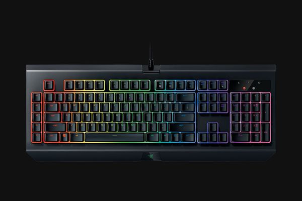 razer BlackWidow Chroma V2 Gaming Keyboard Yellow Switches (FRA Layout - AZERTY) – Bild 2