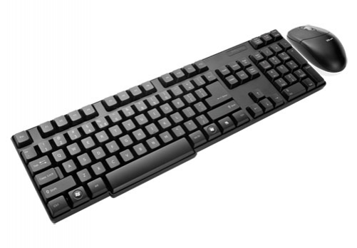 Trust Wireless Deskset IT RF Wireless QWERTY Schwarz