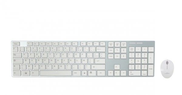 Bluestork BS-PACK-EASY-II/F USB Silber, Weiß Tastatur (FRA Layout - AZERTY) – Bild 1