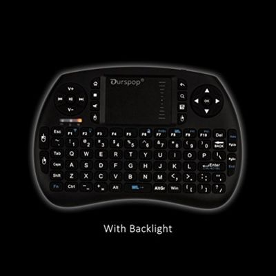 OURSPOP 2.4G Wireless Mini Qwerty Backlit Keyboards Combo for XBMC with Touchpad (OP-R7) – Bild 1