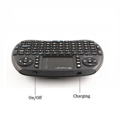 OURSPOP 2.4G Wireless Mini Qwerty Backlit Keyboards Combo for XBMC with Touchpad (OP-R7) – Bild 4