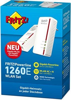 Avm FRITZ Powerline 1260E - 1220E WLAN Set Plug-Type F (EU)