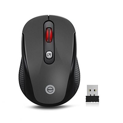 Kabellose Maus, 2.4G Mini kabellose optische Maus mit USB-Nano-Empfänger, 4Tasten, 5verstellbare DPI Level (800/1200/1600/2000/2400) – Bild 6