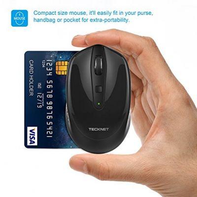 TeckNet® Pure 2.4G Mini Wireless Maus schwarz schwarz – Bild 5