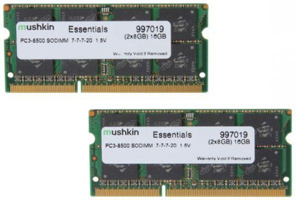 Mushkin DDR3 SO-DIMM 16GB 1066-7 Essent Dual