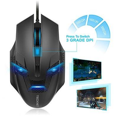 TECKNET Optische Gaming Mouse 2000 DPI