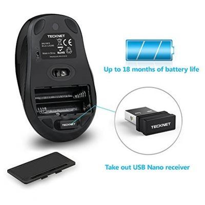 TECKNET Wireless Standard Keyboard and Wireless Mouse Set (GBR Layout - QWERTY)