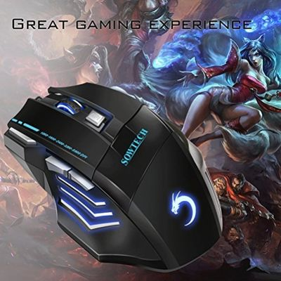 Gaming Mouse, SOWTECH(TM) Professional LED Optical 5500DPI 7 Buttons Ergonomic USB Wired Gaming Mice Adjustable DPI for Pro Gamer – Bild 3