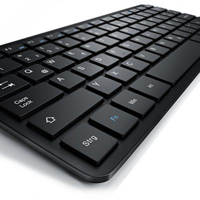 CSL – Mini Wireless 2,4Ghz Tastatur / Keyboard im Slim Design | QWERTZ | LED-Anzeige | 10m maximale Reichweite | Plug&Play | Windows 10 fähig / Linux / Mac OS X | für PC / Mac / Notebook / Laptop / Tablet-PC / Mac Book | schwarz – Bild 2