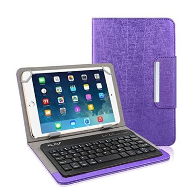 ELZO 7 Inch to 8 inch Bluetooth Keyboard Case Keyboard Case/Stand Case Cover Pouch For iPad iPad Air Galaxy Tab Lenovo acer ASUS HP Dragon Touch Tablet – Bild 1