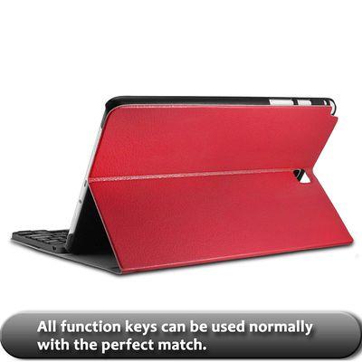INFILAND Samsung Galaxy Tab A 9.7 Bluetooth Tastatur Red (DEU Layout - QWERTZ)  – Bild 4