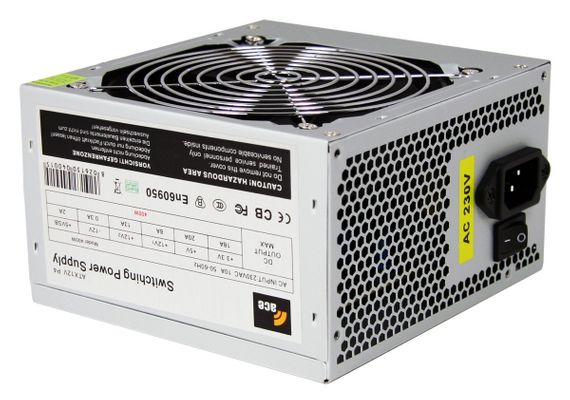 ACE 400W PSU with 12cm Fan and SATA 24-Pin Model - Grey by ACE