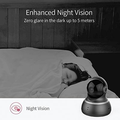 YI Dome Camera 1080p HD Pan/Tilt/Zoom Wireless IP Security Surveillance System Night Vision Cloud Service Available – Bild 2