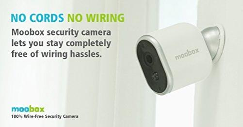 moobox Draht HD Home Security Kamera für Handy und Tablet, batteriebetrieben, Cloud-Speicher, Innenbereich. Add-on Kamera nur für Ihre vorhandenen moobox Hub und System – Bild 2