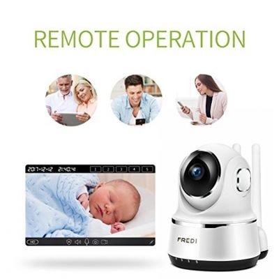 IP Camera, FREDI Wireless Security Night Vision Camera 720P Wifi Surveillance Video Cam Remote viewing Baby Monitor With Two-Way Talking (White) (White) – Bild 4