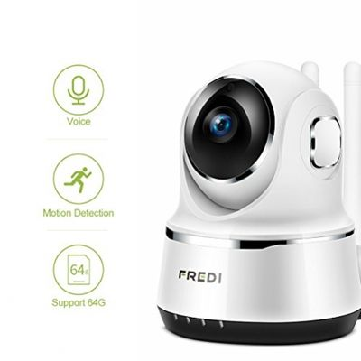 IP Camera, FREDI Wireless Security Night Vision Camera 720P Wifi Surveillance Video Cam Remote viewing Baby Monitor With Two-Way Talking (White) (White) – Bild 5