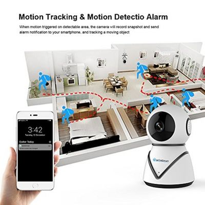 WiFi IP Camera Security Camera eLinkSmart Pan Tilt Zoom Indoor Surveillance Camera with 720P HD Night Vision Motion Detection Two-Way Audio Support Active Call – Bild 4