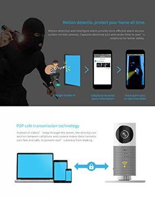 Laygudras drahtlose wifi kamera schlauen hund Smart baby monitor unterstützung P2P Nachtsicht Rekord Video Zwei-wege Audio Bewegung erkannt für ios / android tablet / smartphone (grau) – Bild 4