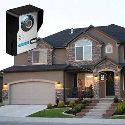Cadrim Videoüberwachung 7 Zoll LCD 4CH DVR Recorder 2.4GHz WIFI Baby Monitor + 2X WIFI Überwachungskamera IR Kameras Wasserdicht CCTV Sicherheitskamera Türsprechanlage Video, 7 Zoll Türsprechanlage Kamera LCD Monitor Videoüberwachungsanlage – Bild 6
