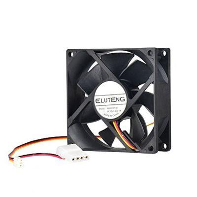 ELUTENG Lüfter 80mm für DIY-Computer Lüfter 12v mit 3 Pin und 4 Pin Netzteilkabel PC Ventilator be Quiet Gehäuselüfter 8cm Cooling Fan – Bild 3