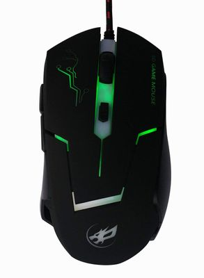 WORWOLF High Precision DPI Symmetrical Optical USB with 6 Buttons Wired Gaming Mouse