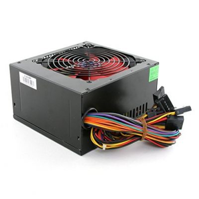 Ace 500W BR PSU with 12cm Red Fan and PFC - Black