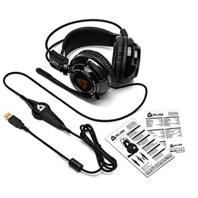 Klim Puma Gaming Headset 7.1 Surround Sound High Quality Sound Built In Vibration