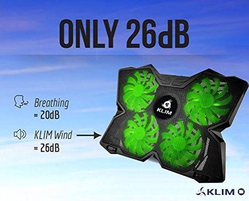 Klim Wind Gaming Cooling Cooler Pad for Laptop Green