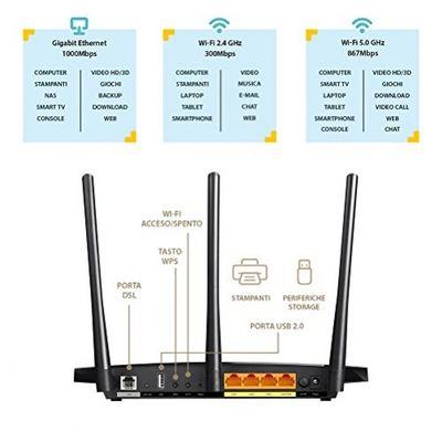 tp-link Archer VR400Modem Router Gigabit ADSL/VDSL Plug-Type C (EU)