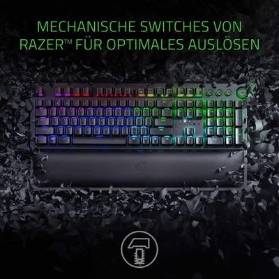 Razer Blackwidow Elite Mechanical Gaming Keyboard (DEU Layout - QWERTZ) Yellow Switches – Bild 2