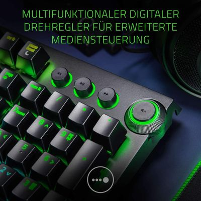 Razer Blackwidow Elite Mechanical Gaming Keyboard (DEU Layout - QWERTZ) Yellow Switches – Bild 3