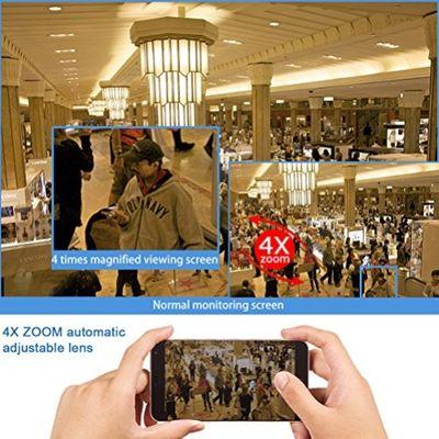 HD 1080P Wi-Fi Dome IP-Kamera mit SONY CMOS IP66 2.8-12mm 4X Zoom Auto anpassen Objektiv & 5,0dB Antenne – Bild 4