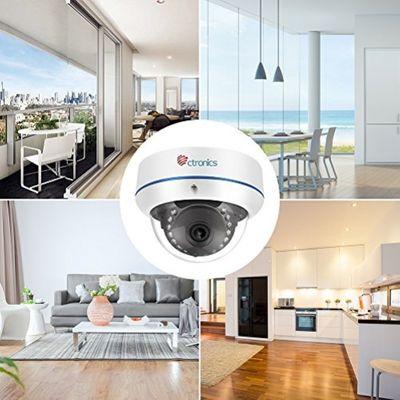 【1080P】Ctronics Ueberwachungskamera Dome Kamera IP WIFI Wireless Kamera 1080p, 20m IR 2.8mm Objektiv, ONVIF SD-Karte Slot CTIPC-224C1080PWS – Bild 3