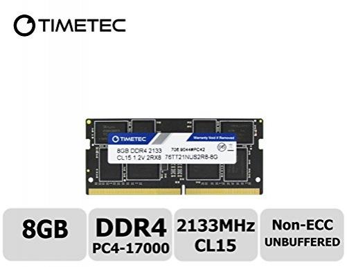 Timetec Hynix IC 8GB DDR4 2133MHz PC4-17000 Unbuffered Non-ECC 1.2V CL15 2Rx8 Dual Rank 260 Pin SODIMM Laptop / Notizbuch Arbeitsspeicher Module Upgrade (8GB) – Bild 1