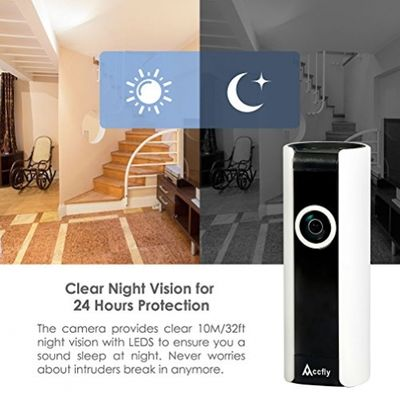 Accfly Wireless Security IP Camera System 720P HD WiFi Smart Home Surveillance Video Cam Two Way Talk Night Vision 185° Wide Angle Motion Detection – Bild 4