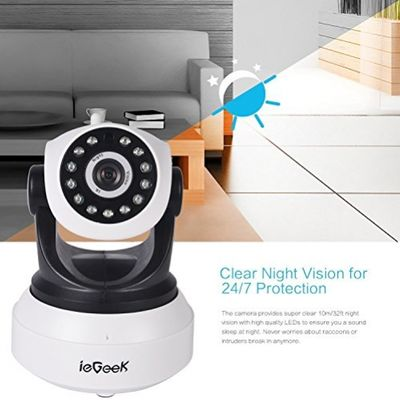 [Updated Version] IP Camera, ieGeek 720P HD WiFi IP Cam Surveillance Security System Video Recording Sonic Recognition P2P Pan Tilt Remote Motion Detect Alert With Two-Way Audio Support 64GB Micro SD – Bild 3