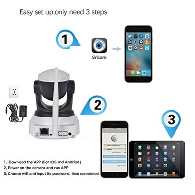 [Updated Version] IP Camera, ieGeek 720P HD WiFi IP Cam Surveillance Security System Video Recording Sonic Recognition P2P Pan Tilt Remote Motion Detect Alert With Two-Way Audio Support 64GB Micro SD – Bild 4