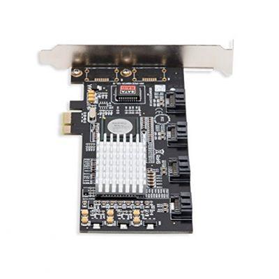 Syba PCI-Express-RAID-Controller (Software-RAID, 4 SATA-II-Ports, PCIex1) – Bild 1